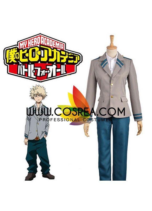 0198a4ea43dad My Hero Academia Izuku Midoriya Uniform Cosplay Costume
