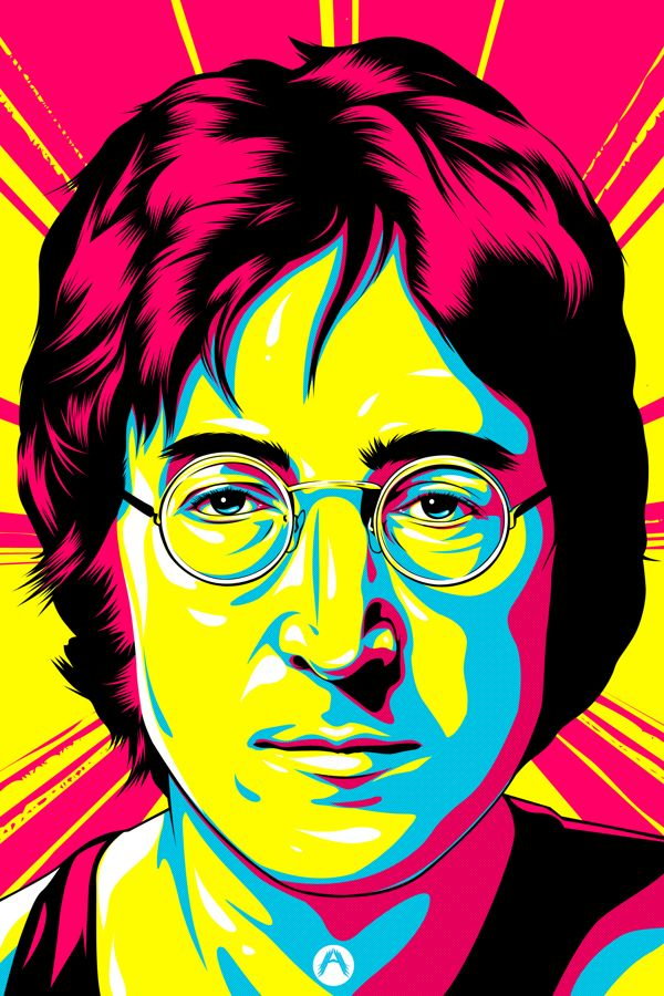 John Lennon by Amando Aquino, via Behance