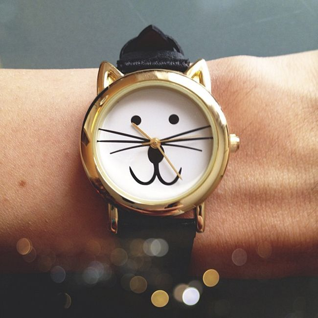 All The Time Is Cat Time With This Cute Watch  ... see more at PetsLady.com ... The FUN site for Animal Lovers