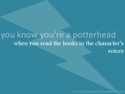 When you read the books in the character's voices