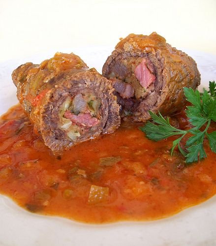 My mom used to make these when we were children. Great memories. Niños Envueltos (Stuffed Meat Rolls)