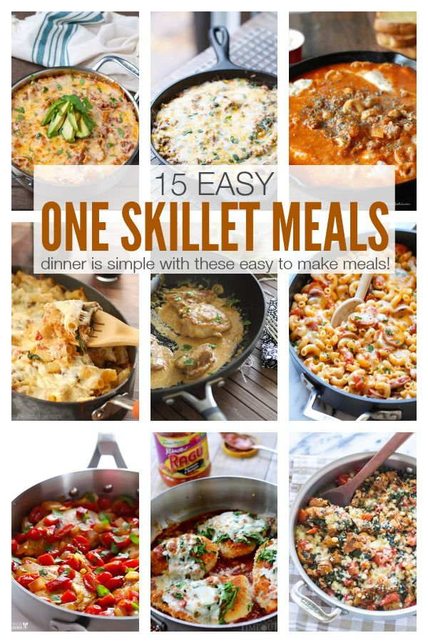 15 Easy One Skillet Meals