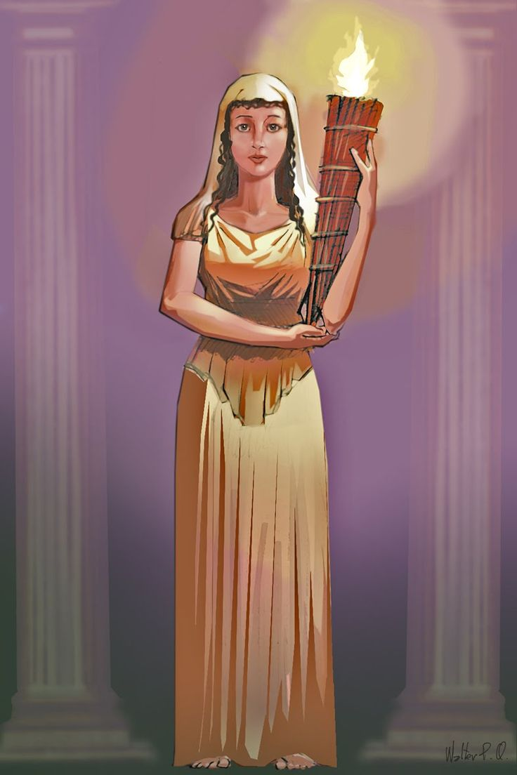 Roman Goddess Vesta Represents The Sacred Heart Or Hearth Of The Home, The  Central Fire