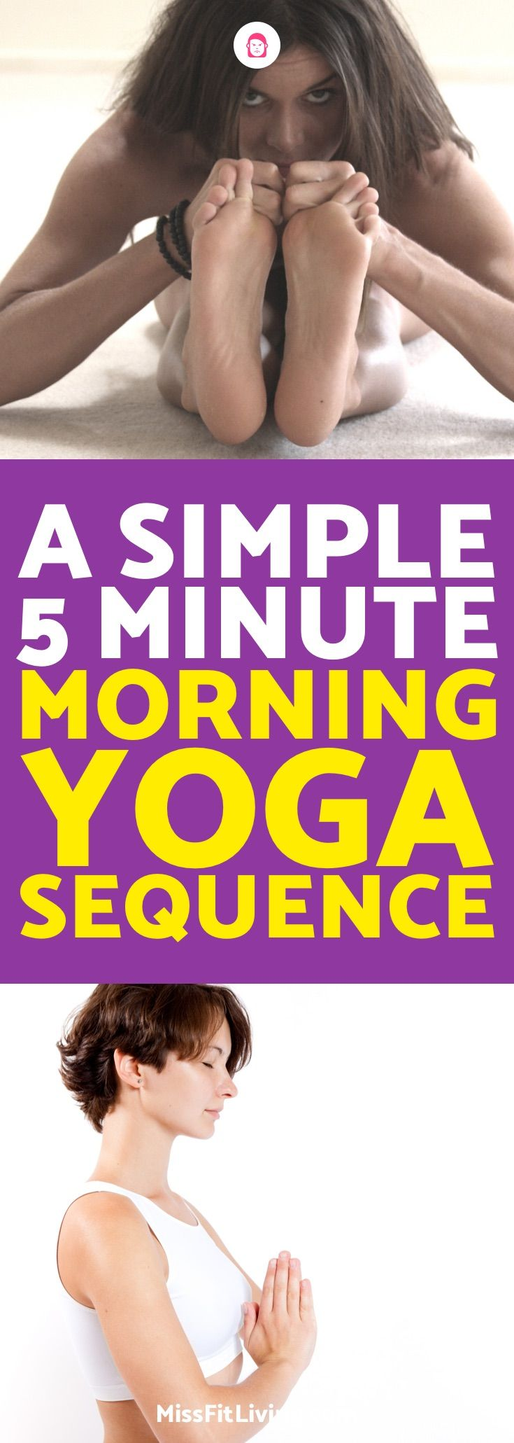 Looking for a quick morning yoga workout? This morning yoga sequence is somethin...