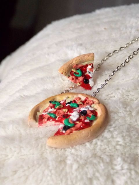 Friendship Necklace - Pizza Necklace