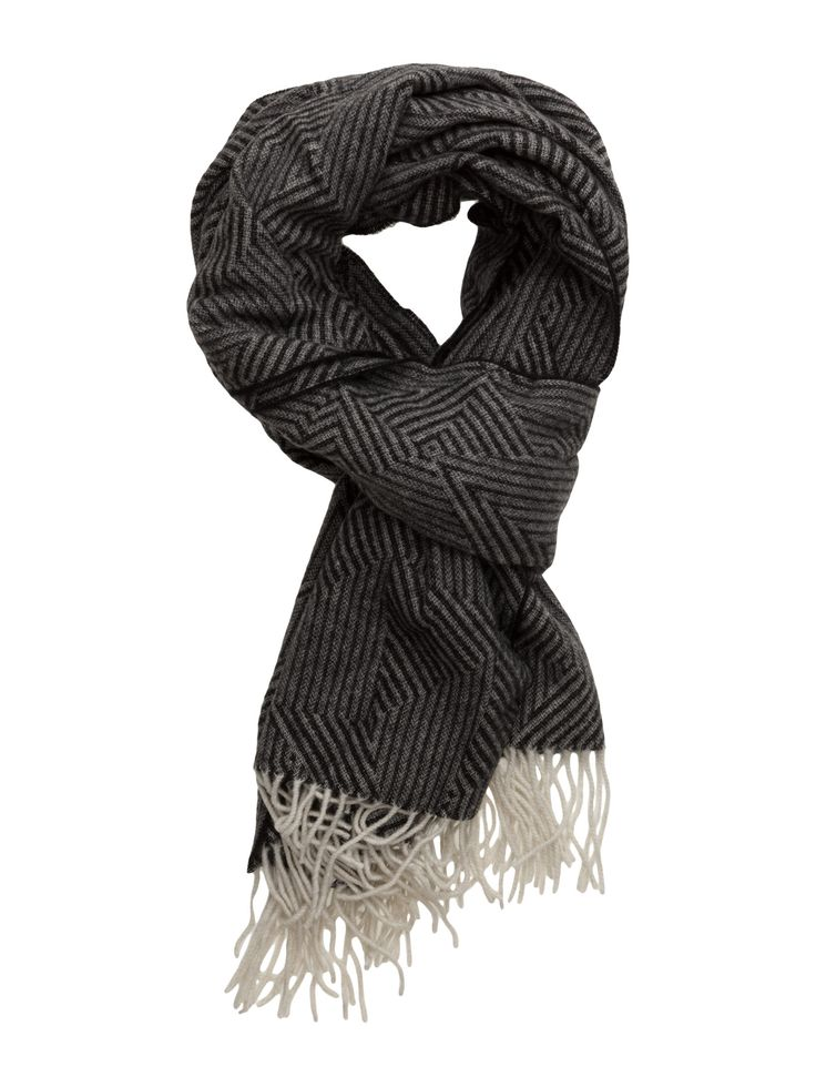 DAY - 2ND Harmony pepper Long fringe Patterned Wrap around style Chic Practical Scarf