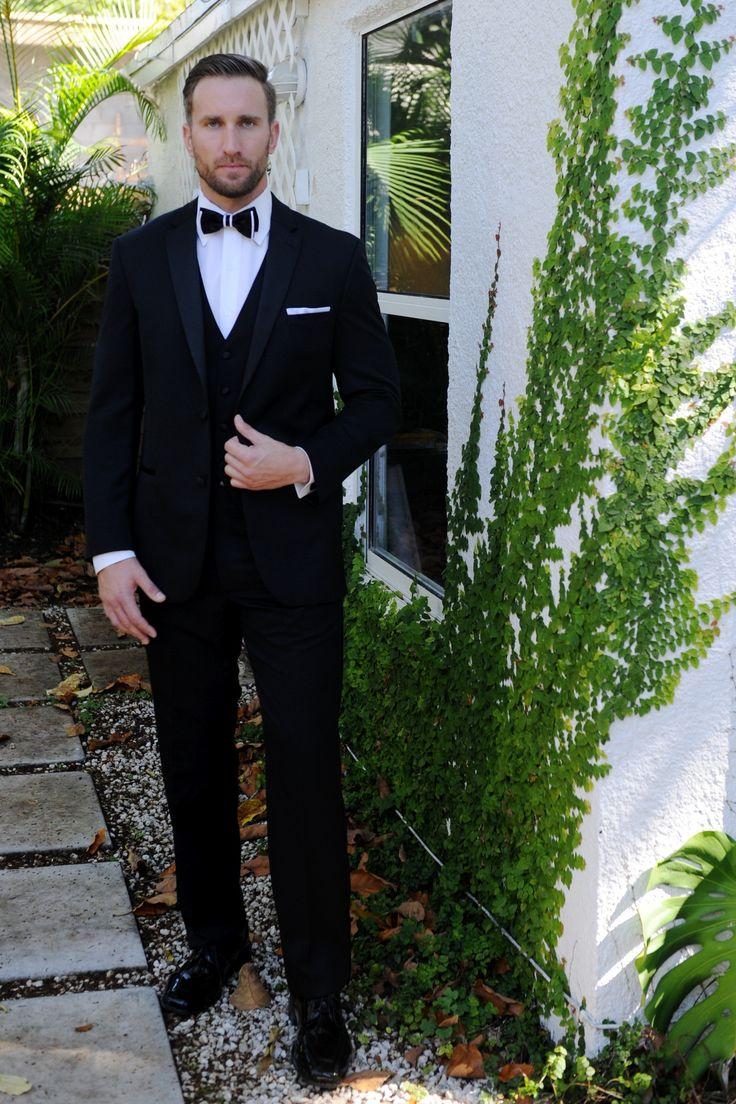 Rent The Michael Kors® Black Slim-Fit Tuxedo Rental
