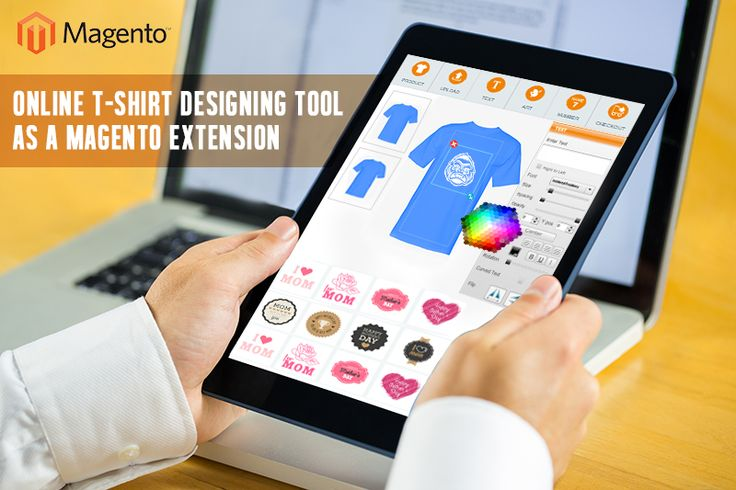 Online ‪T-Shirt designing Tool‬ as a ‪Magento Extension‬. This unique online T-Shirt Designing Tool' helps users to easily create their own distinctive T-shirt designs within few seconds.