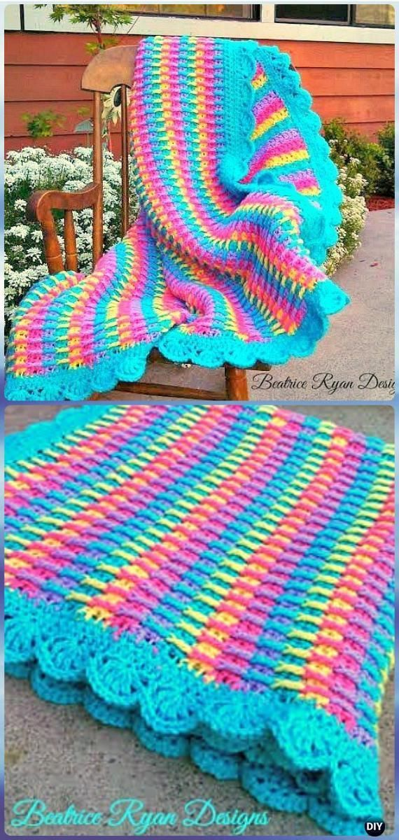 Crochet Rainbow Dash Baby Blanket Free Pattern - Crochet Rainbow Blanket Free Patterns