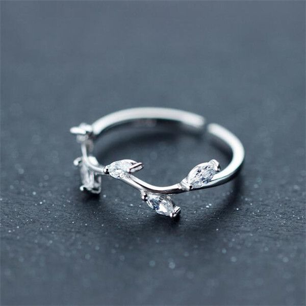 2016 Trendy Silver CZ Branch Ring for Girl [100715] - $35.00 : jewelsin.com