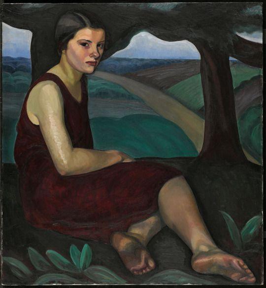 Prudence Heward. Femme sur une colline 1928. Musée des beaux-arts du Canada