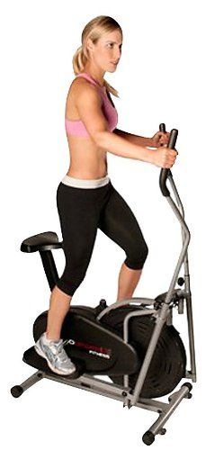 The Elliptical machine Provides a total body (legs hips buttocks arms & shoulders) low-impact cardiovascular workout for all family members regardless of ability level. This unit resembles a wal...