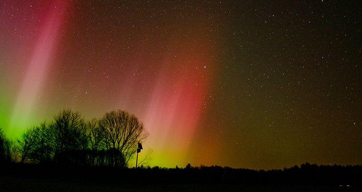 Szczecinek zorza polarna - Aurora borealis in Poland.