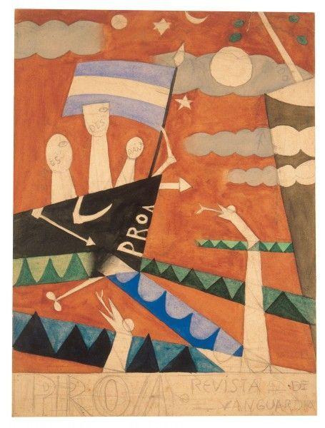 Proa (boceto) - Xul Solar (Oscar Agustin Alejandro Schulz Solari) - argentino (1887-1963)
