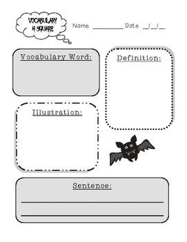 I pinned this because it reminded me to the Frayer Model! Graphic organizers for vocabulary words are great for ELLS! This one is helpful because you write down the word, the definition, a drawing (which helps to create a visual), and finally write a sentence so that the students know how to use it in context.