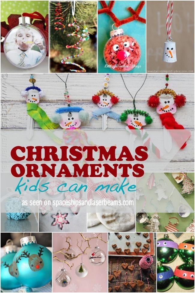13 Homemade Christmas Ornaments Kids Can Make