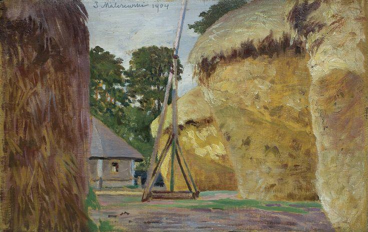 Jacek Malczewski: Stogi, 1904 r., olej, deska, 15,5 x 24,5 cm