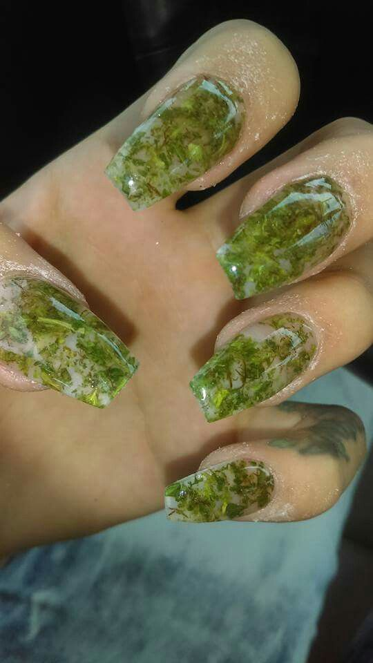 Nails made with Real Marijuana #DopeNails