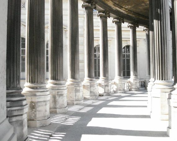 Photograph French Columns Shadows variety of print sizes
