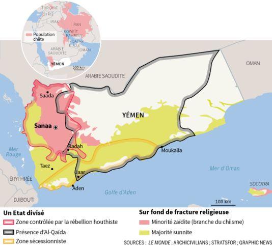 10.01.15 / Le Yémen, un pays déchiré, bastion des djihadistes d'Al-Qaida / Souvent décrite comme supplantée par la fulgurante ascension de l'Etat islamique (EI), Al-Qaida dans la péninsule Arabique (AQPA) n'en finit plus de faire la démonstration de sa force. Depuis septembre 2014, la franchise yéménite du groupe terroriste aurait perpétré 150 attaques dans une quinzaine de provinces. Le 7 janvier, l'explosion d'une voiture piégée devant l'académie de police, en plein cœur de Sanaa, a fait…