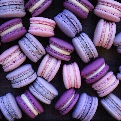 Love these delicious three shades of purple macaroons they look soo amazing and delicious my favourite love it amazing.