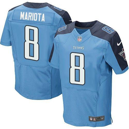 marcus mariota mens elite light blue jersey nike nfl tennessee titans home 8