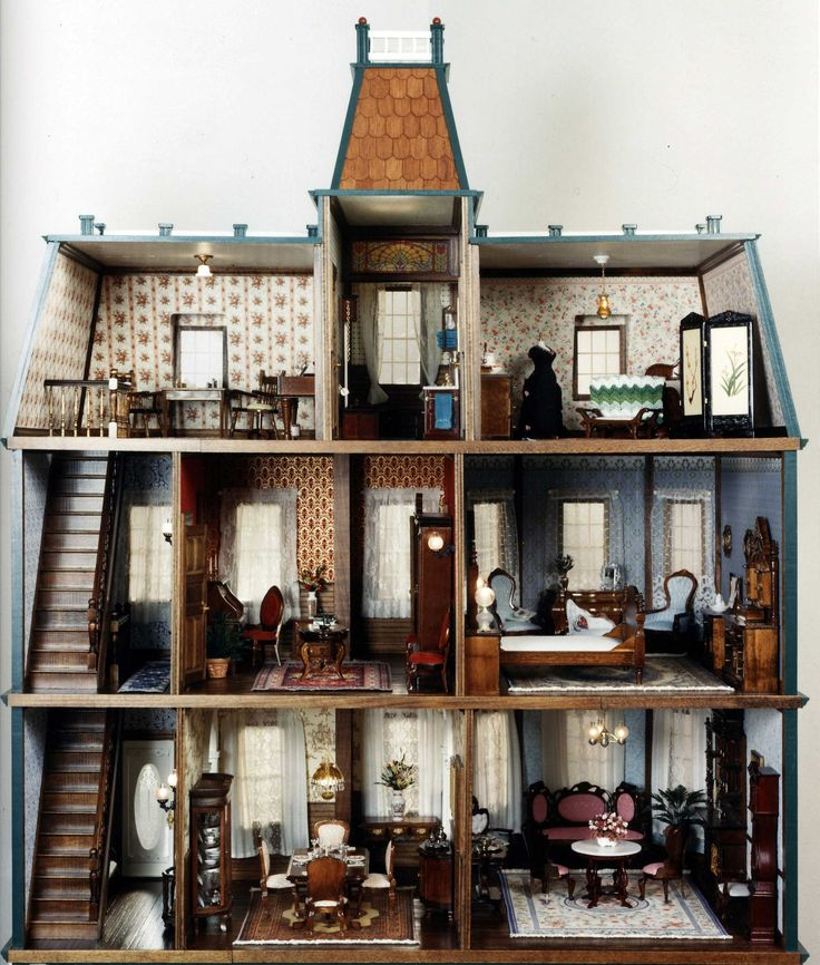 "Interior of 1/12"" scale dollhouse that Malcolm Forbes bought in the late 1980s as a Christmas present for his granddaughters."