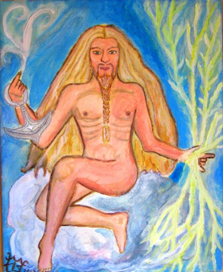 """Ukko """"O Deus do tempo e do trovão na mitologia finlandesa."""