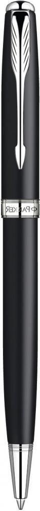 Шариковая ручка поворотная Parker Sonnet k529 Matt Black Сt черный s0818140
