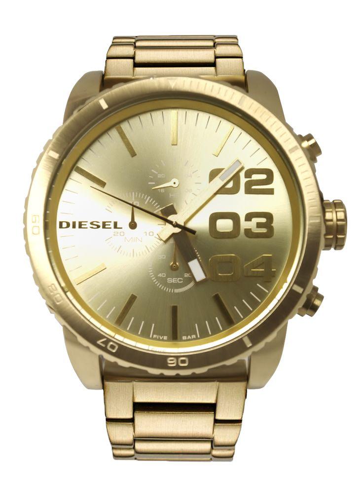 17 best images about diesel watch liestyle diesel men s xl watch dz4268 gold tone steel chronograph quartz