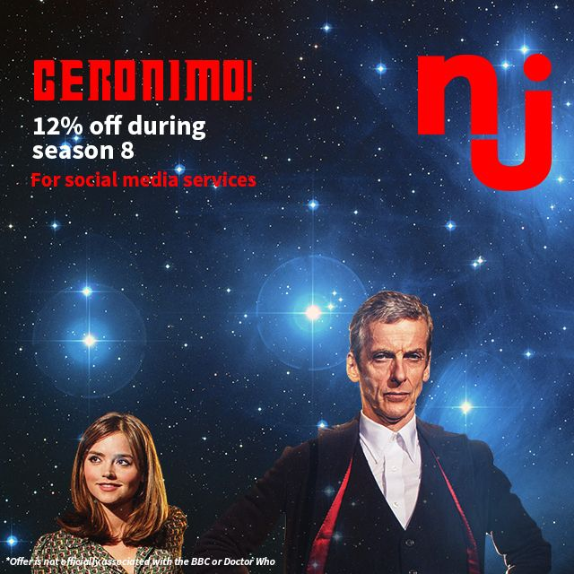 Promo time! Get 12% off a variety of my social media services during this series of #DoctorWho :) #Brisbane #socialmedia