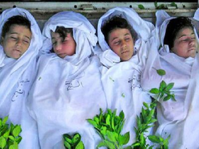 'Largest Massacre of Christians in Syria' Ignored - The Balfour Post. 11/26/2013 these are written about in the Bible: Revelation 6:9  And when he had opened the fifth seal, I saw under the altar the souls of them that were slain for the word of God, and for the testimony which they held: