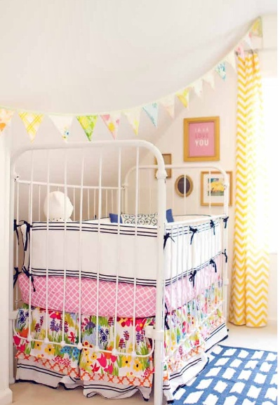 Katie Hollon, this could be a similar set up for you... Just with different colors and fabrics and crib... And we'll everything different except your ceiling slants too :)