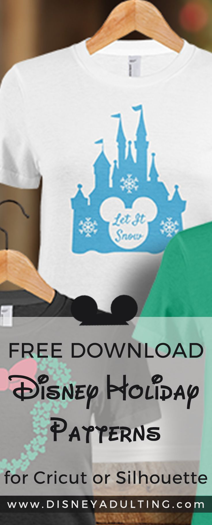 Diy Disney Shirts With Disney Holiday Patterns For Cricut Or