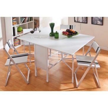 Conjunto mesa abatible y 4 sillas RICKY