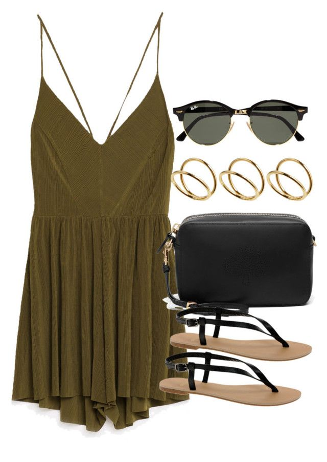 """""""Style #10489"""" by vany-alvarado ❤ liked on Polyvore featuring Mulberry, ASOS and Ray-Ban"""
