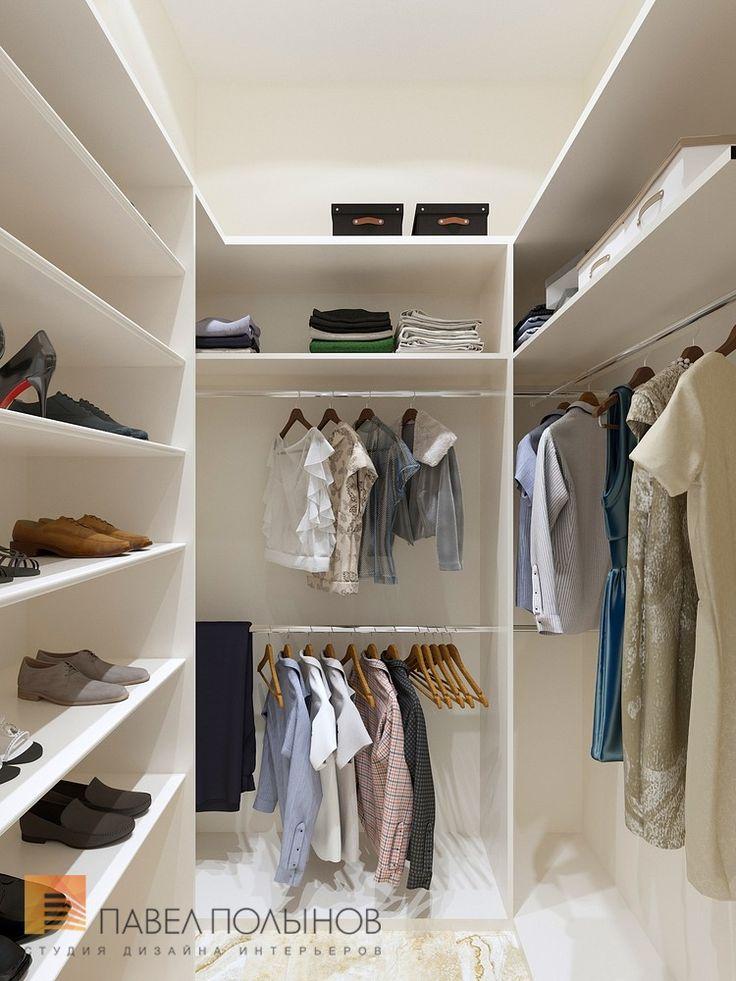 Фото гардеробная из проекта «Дизайн квартиры 151 кв.м. в клубном доме «DEL' ARTE», современная классика»
