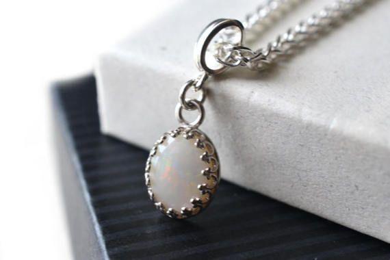 Australische opaal hanger 18 20 Zilveren