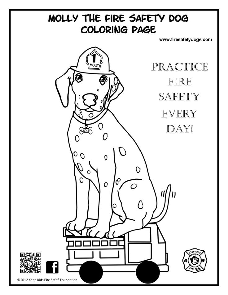 Good Safety Coloring Pages 92 Molly the Fire Safety