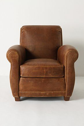 This small-scale club chair is perfect for rooms where space is limited but style is imperative. Inspired by a vintage chair our buyers found during their travels, this cushy seat has been reproduced with distressed leather for the look of an instant classic. Our Jack Club Chair chair is Maggie's masculine counterpart.