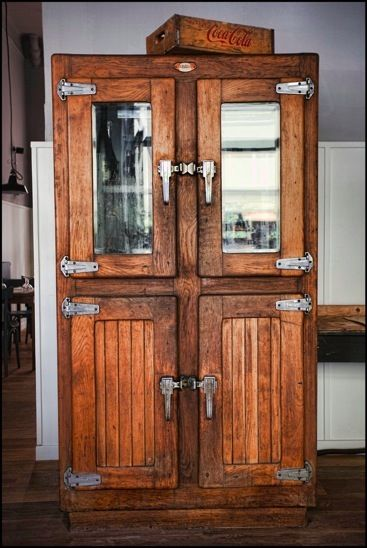 Wooden Refrigerator Cabinets ~ Best old wood ice box images on pinterest