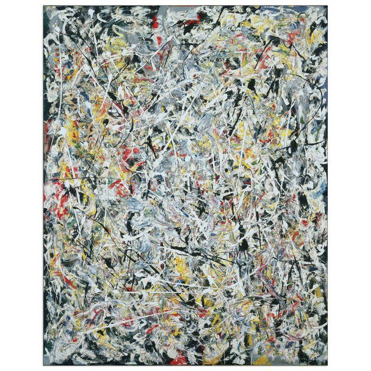 POLLOCK - White light 60x75 cm #artprints #interior #design #Pollock  Scopri Descrizione e Prezzo http://www.artopweb.com/autori/jackson-pollock/EC21740