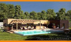 Casa de madera modular modelo 157m2 - Casas de Madera y bungalows en Tarragona   Diseños a medida