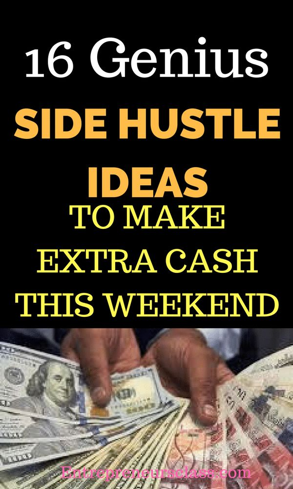 Looking for Side Hustle Ideas to make money this weekend? Check out these 16 amazing Side Hustle Ideas to make extra cash even without any experience.