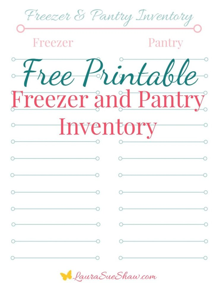 This adorable free Freezer & Pantry Inventory will help you organize your kitchen and meal plans so you know exactly what you have on hand in your home!