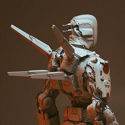 Shadow Warrior 2 - Zilla Commando, Levus 3D on ArtStation at https://www.artstation.com/artwork/RNe1D