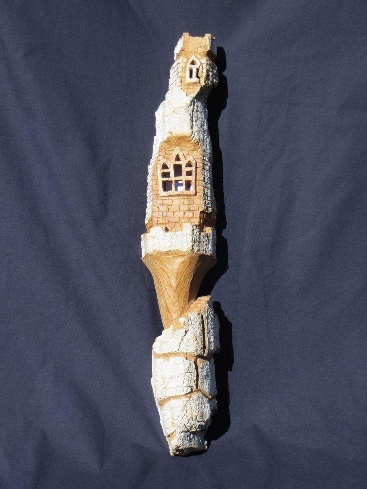 #1 - Hand - carved cottonwood bark sculpture by Sharon Hubbard.  Starting bid:  $5.00 CDN