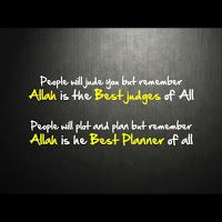 Islamic quote image ALLAH is the best judges of all