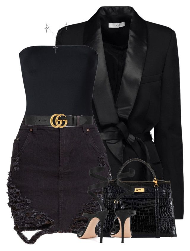 """Untitled #1386"" by jetadorejas ❤ liked on Polyvore featuring IRO, ONIA, Hermès, Gianvito Rossi, Child Of Wild and Gucci"