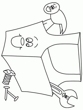coloring pages for tool belt - photo#17